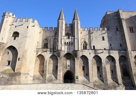 Popes' Palace of Avignon, unesco world heritage in Southern France