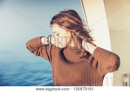 Beautiful Happy Blond Teenage Girl Portrait