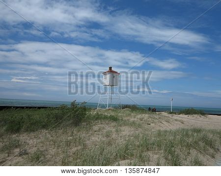 Big Sable Point Lighthouse in Ludington State Park, Michigan