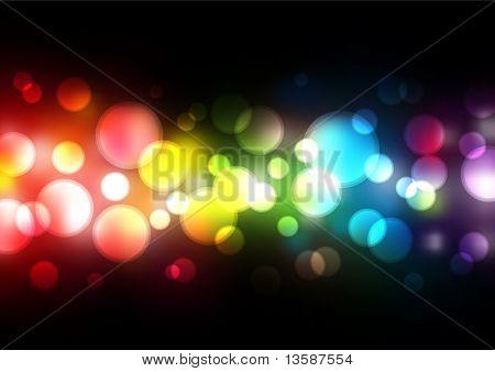 Vector Rainbow Blurry Lights
