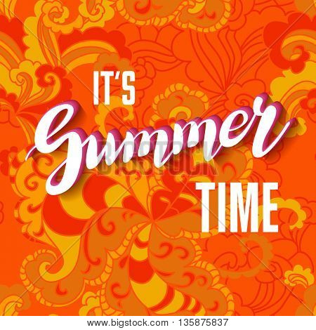 It is summer time lettering background.