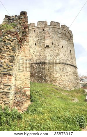 Ancient saved fortress tower of old city