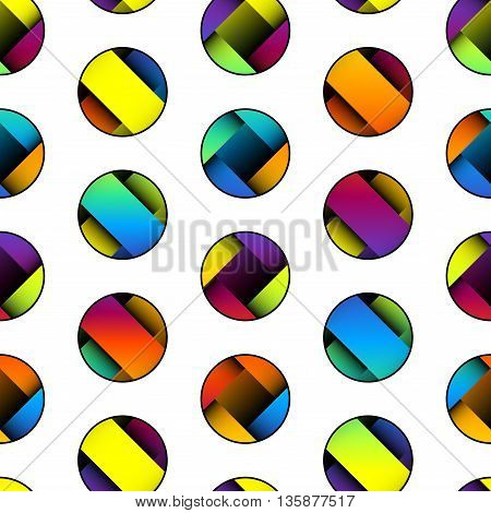 Seamless background pattern. Polka dot geometric abstract pattern