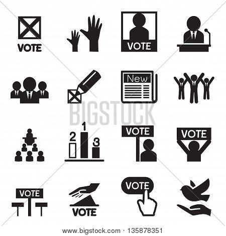 Democracy icon set Vector illustration Graphic design