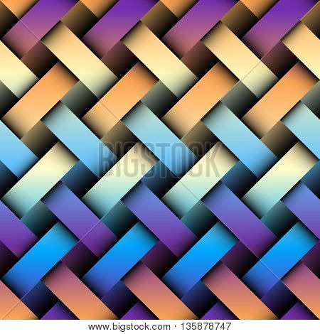 Seamless background pattern. Abstract plaid pattern with imitation of interweaving bands