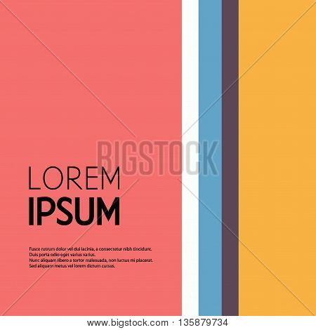 Vector Stereotype Illustration. Vertical Bar Icon. Business Card