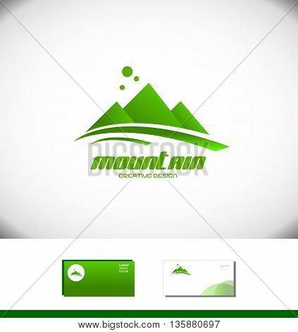Vector company logo icon element template moutain peak top tourism tourist agency top