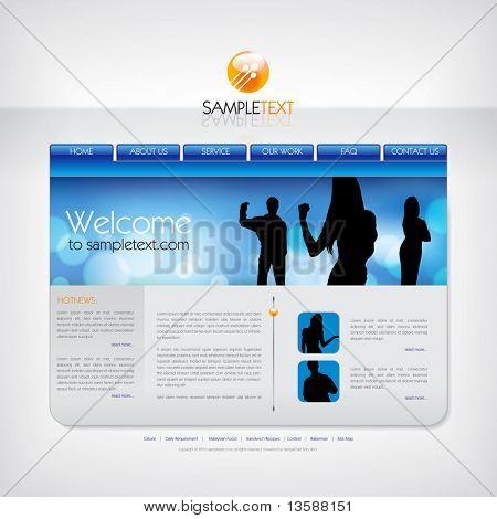 Vector website design template.