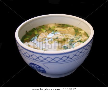 Wonton Soup In A Tureen