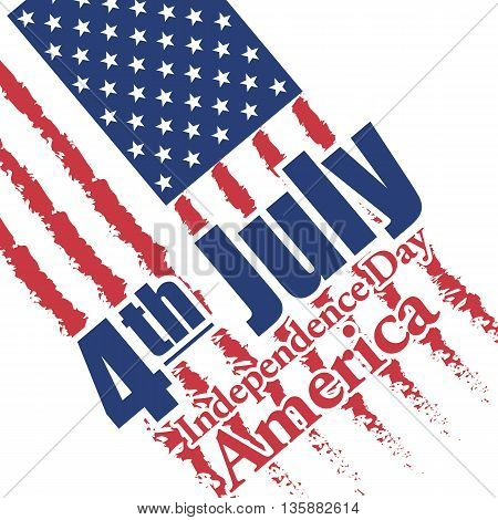 Fourth of july independence day of America card. Digital vector image
