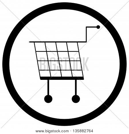 Shopping basket icon monochrome vector. Shopping cart and illustration shopping trolley