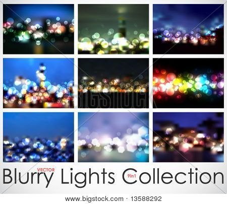 9in1 Vector Blurry Lights Collection