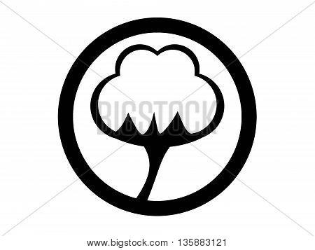 Vector black cotton icon set. Cotton Icon Object, Cotton Icon Picture, Cotton Icon Image - stock vector