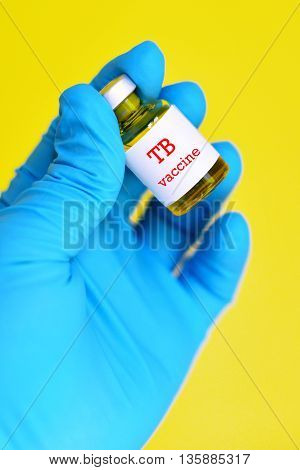 The bottle of tuberculosis vaccine (TB vaccine) for injection
