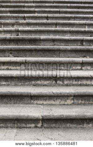 Detail of the steps of an old stone stairway