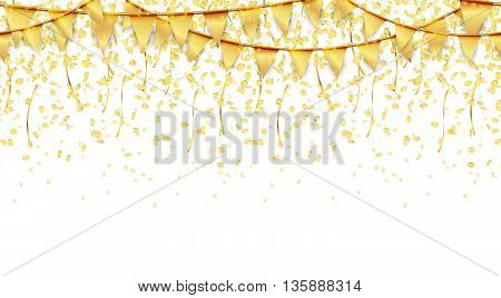Seamless Garland And Confetti Background