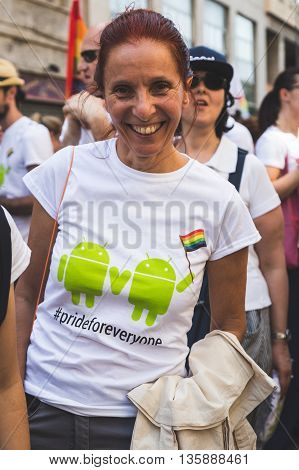 People At Pride 2016 In Milan, Italy