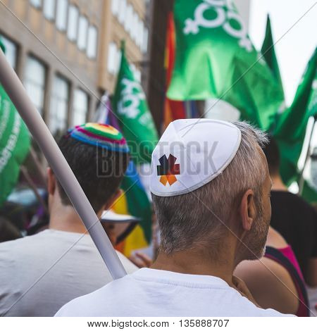 Jewish People At Pride 2016 In Milan, Italy