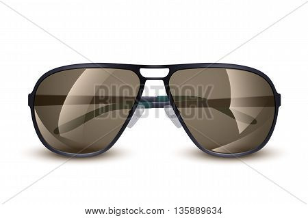 illustration of sunglasses on white background with soft shadow