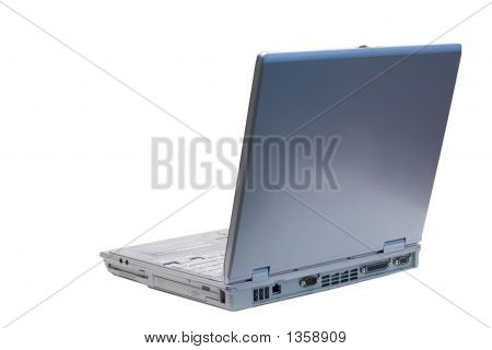 Back Left Isolated Laptop