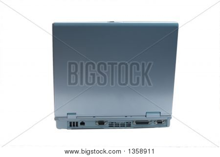 Isolated Laptop Facing Back