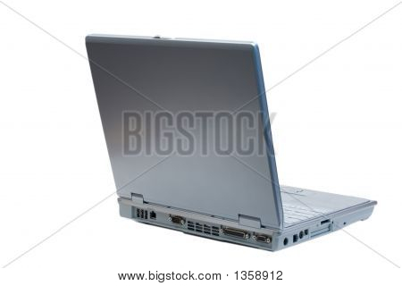 Isolated Back Right Facing Laptop