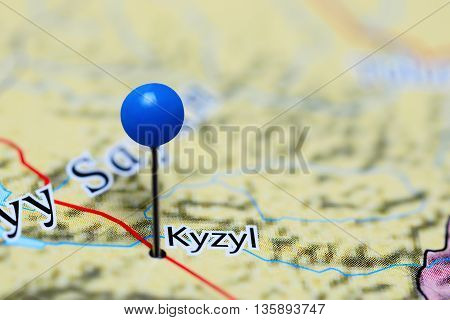 Kyzyl pinned on a map of Russia