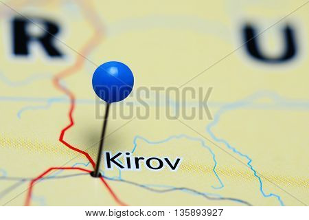 Kirov pinned on a map of Russia