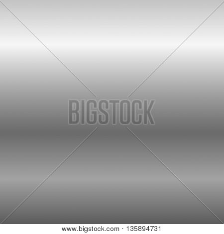 Silver metal plate texture. Light realistic, shiny, metallic empty horizontal gradient template. Abstract gray decoration. Design for wallpaper, background, wrapping, fabric etc. Vector Illustration.