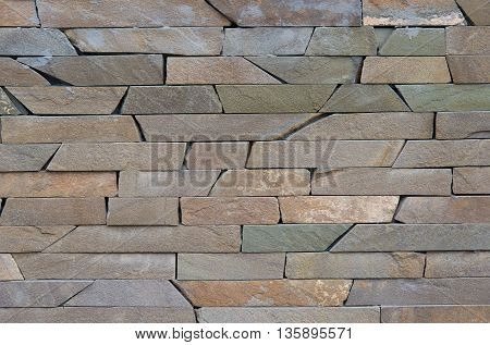 Modern different colored brick wall for pattern