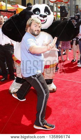 Jack Black at the Los Angeles premiere of 'Kung Fu Panda' held at the Grauman's Chinese Theater in Hollywood, USA on June 1, 2008.