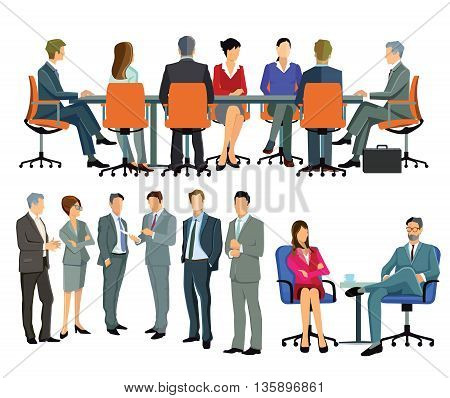 Meeting, consulting, management conference, agreement, unity, arrangement