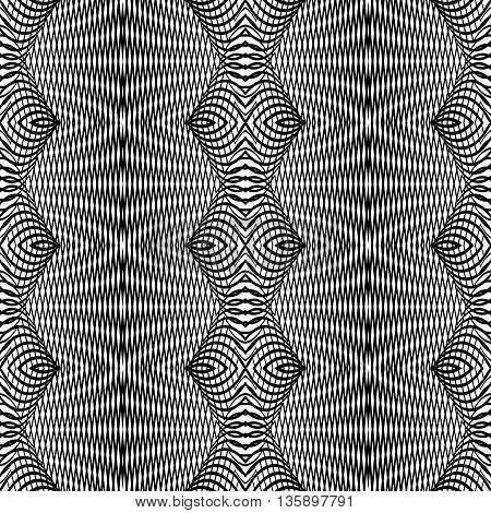 Design Seamless Monochrome Grid Pattern
