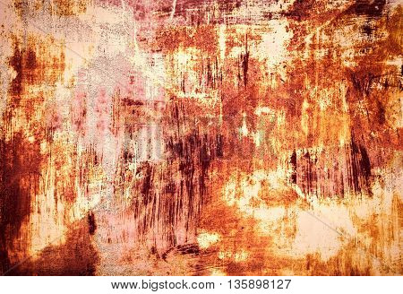 abstract background or texture old metal plate with cracked paint