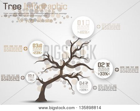 THREE INFOGRAPHIC FLAT STYLE BROWN for web and other
