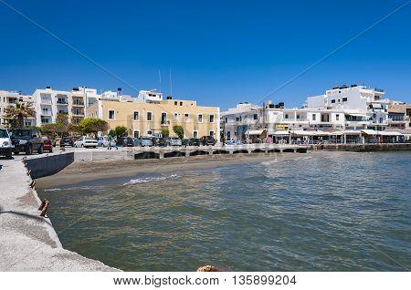 LERAPETRA GREECE - MAY 02 2015: An image of the southern coastal town of Lerapetra on the Greek island of Crete.