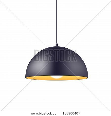 Pendant light lamp vector illustration. Home interior decoration.