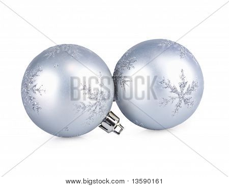 New Year's Spheres Silver