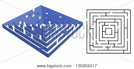 Maze vector isolated on a white background