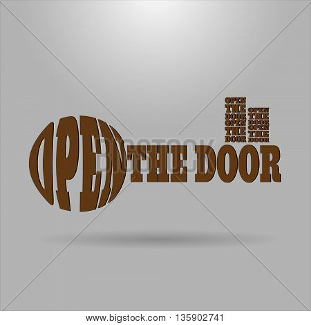 Shaped letters vector. Text wrap effect. Key created with envelope distort feature.