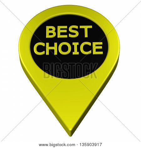 Best choice tag isolated on white background. 3D rendering.