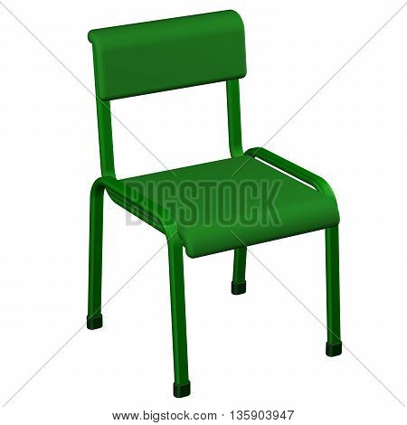 Office chair isolated on white background. 3D rendering.