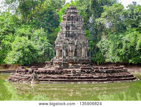 scenery around Neak Pean at Angkor in Cambodia