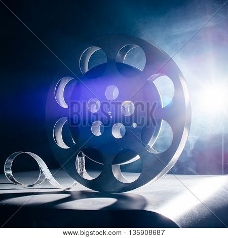 Reel Of Film Retro In The Blue Smoke