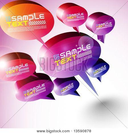Diseño de burbujas de discurso 3D