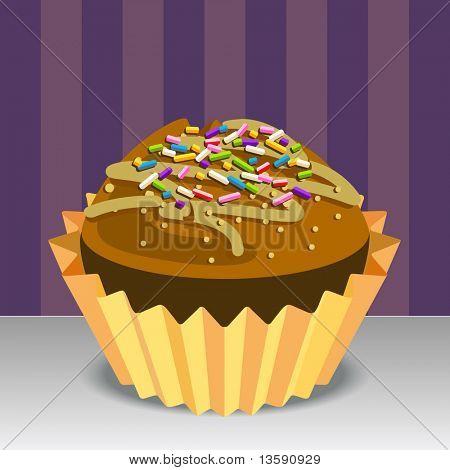 Torta de la taza Vector Illustration