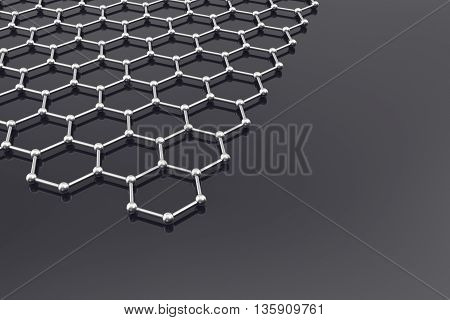 Graphene Surface, nanot echnology background 3d illustration