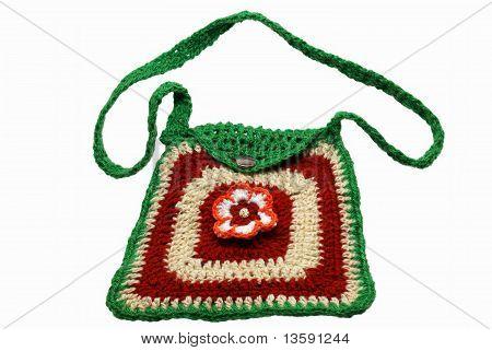 Fashionable knitted handbag