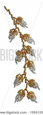 Nyonya Beaded Floral Motive with Clipping Path