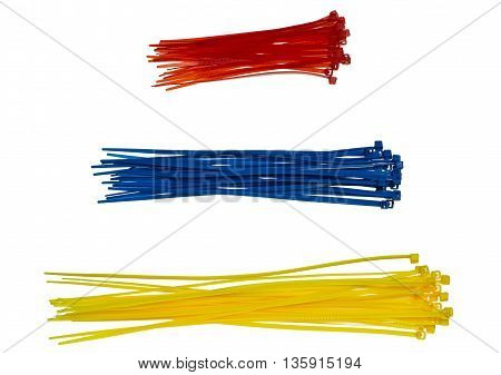 Three Piles Of Cable Ties